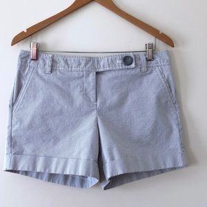 The Limited Drew Fit Shorts Striped Gray White 10